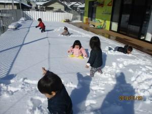 雪って意外に動きにくい!
